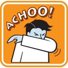 Sneeze into flexed elbow